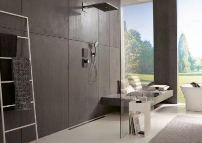Traumbad - Badezimmer Planung - Wellness - HANSGROHE-Rainmaker-Select-Kombinatio